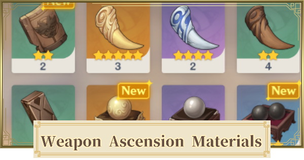 All Weapon Ascension Material List | Genshin Impact - GameWith