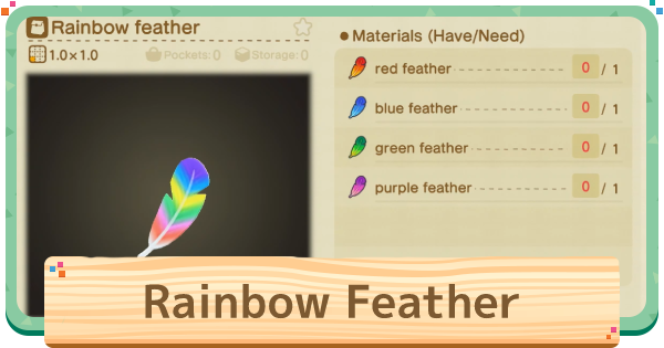 ACNH | Rainbow Feather - How To Get | Animal Crossing - GameWith