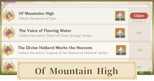 Of Mountain High - Achievement & Trophy Guide | Genshin Impact - GameWith