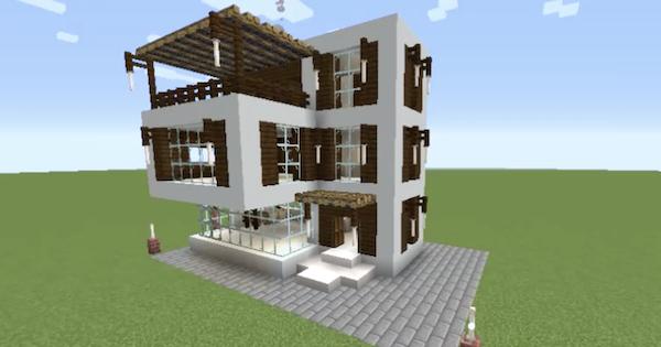 Modern House (Orfenn D Gamer) - Blueprint & How To Build | Minecraft Ideas - GameWith