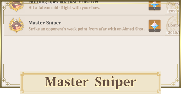 Master Sniper - Achievement Guide & Recommended Target | Genshin Impact - GameWith