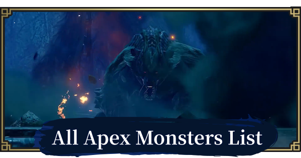 MONSTER HUNTER RISE | All Apex Monsters List | MH Rise - GameWith