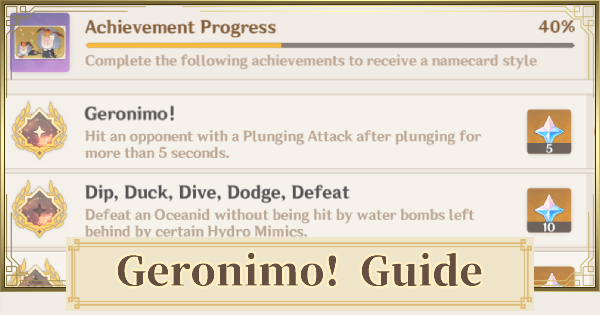 Geronimo! - Plunge Attack Achievement Guide | Genshin Impact - GameWith