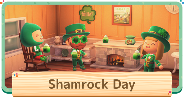 ACNH | Shamrock Day - Items & How To Get | Animal Crossing - GameWith