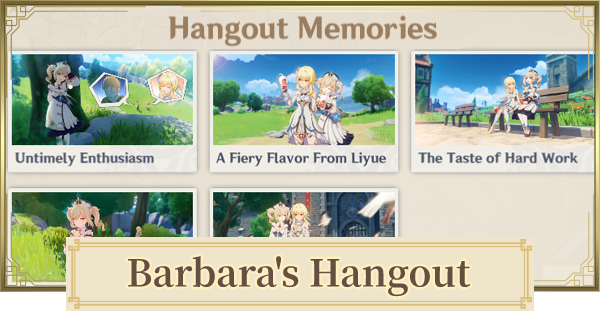 Barbara Hangout Event Walkthrough - All Branches & Choices | Genshin Impact - GameWith