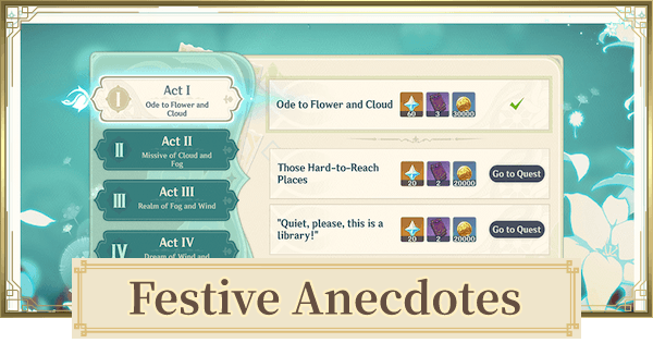 Festive Anecdotes - Quests Guide & Rewards | Genshin Impact - GameWith