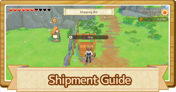 Shipment Guide - How To Sell   Story of Seasons Pioneers of Olive Town (SoS PoOT) - GameWith