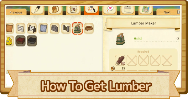Lumber - How To Get | Story of Seasons Pioneers of Olive Town (SoS PoOT) - GameWith