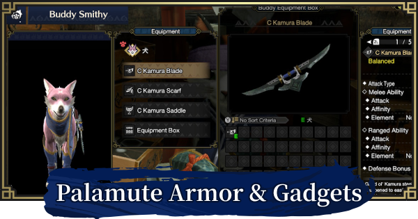 MH Rise   Palamute Armor Sets & Gadgets List   MONSTER HUNTER RISE (MHR) - GameWith