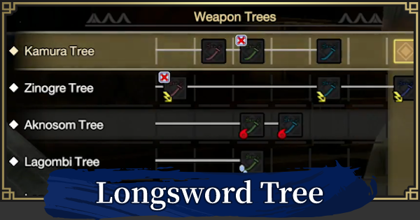 Longsword Weapon Tree & List | MONSTER HUNTER RISE - GameWith