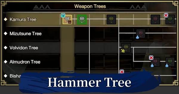 Hammer Weapon Tree & List | MONSTER HUNTER RISE - GameWith