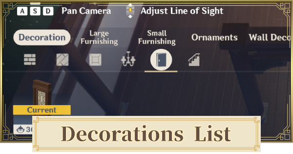 All Decoration List | Genshin Impact - GameWith