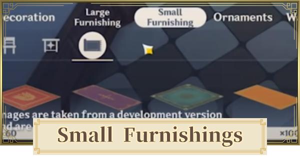 Small Furnishing List   Genshin Impact - GameWith