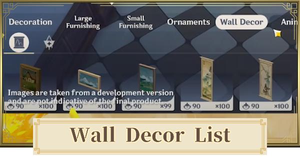 All Wall Decor List | Genshin Impact - GameWith