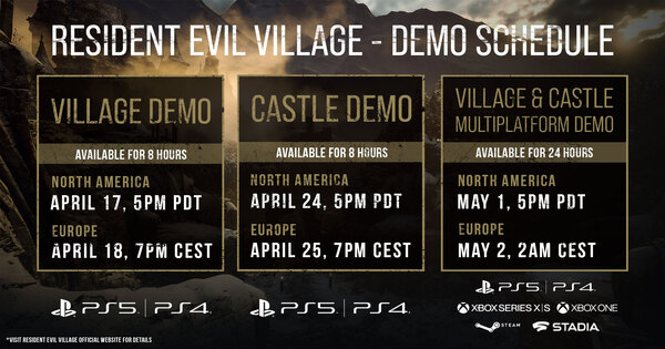 Demo Release Date - PS4, PC, XBOX | Resident Evil Village (RE8 / RE Village) - GameWith