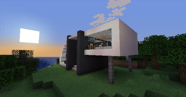 Modern House (KyloMCraft) - Blueprint & How To Build | Minecraft Ideas - GameWith