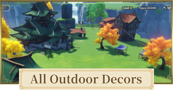 All Outdoor Decors - Realm Decoration & Backyard Items | Genshin Impact - GameWith