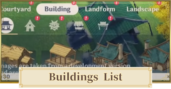 All Building List | Genshin Impact - GameWith