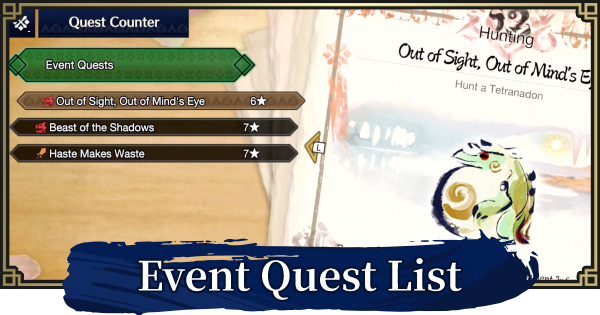 MH Rise | Event Quests List | MONSTER HUNTER RISE (MHR) - GameWith