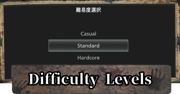 Difficulty Levels - Differences & Settings