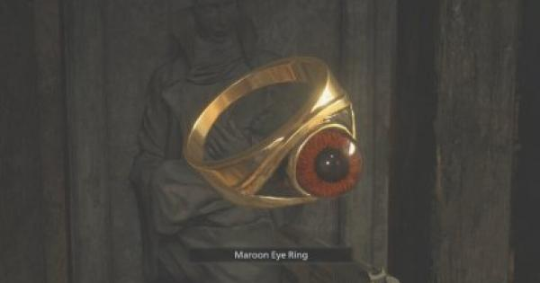 RE8   Maroon Eye Ring  - How To Get & Use   Resident Evil Village (RE Village) - GameWith