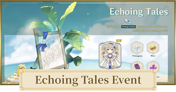 Echoing Tales Event - Echoing Conches Locations  & Free Barbara Skin Event | Genshin Impact - GameWith