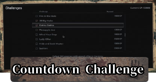 Countdown Challenge Guide - 54321 Lei
