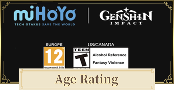 Genshin Impact | Age Ratings - Age Restriction Guide - GameWith