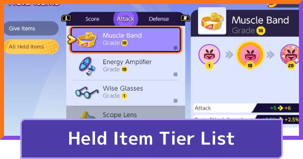 Held Items Tier List (September 2021)