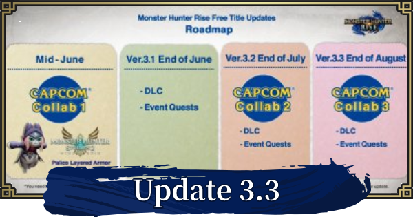 MH Rise | 3.3.1 Update - August Release Date | MONSTER HUNTER RISE (MHR) - GameWith