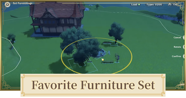 Favorite Furniture Set - Companion & Character Gifts | Genshin Impact - GameWith