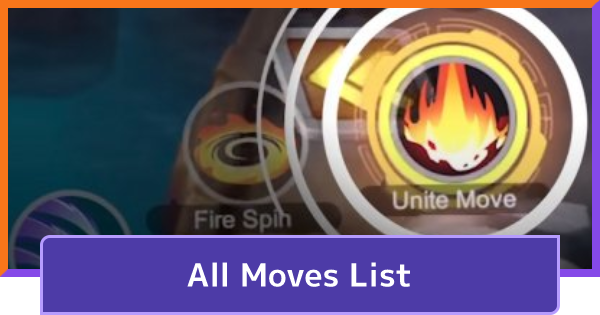 All Moves List - Effects & Pokemon | Pokemon UNITE - GameWith