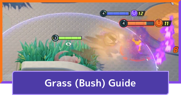 Grass (Bush) Guide - Effects & How To Use   Pokemon UNITE - GameWith