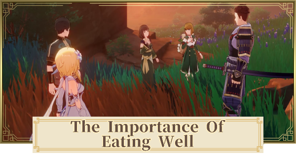 The Importance of Eating Well (The Gourmet Supremos) World Quest Guide   Genshin Impact - GameWith