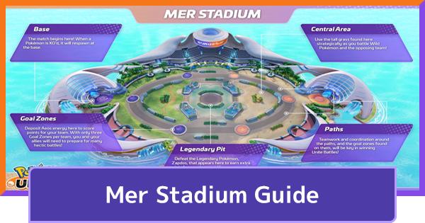 Mer Stadium - Map & Wild Pokemon Guide | Pokemon UNITE - GameWith
