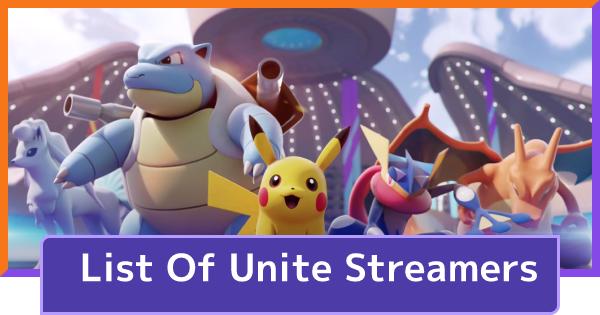 Streamer & High Rank Player List | Pokemon UNITE - GameWith
