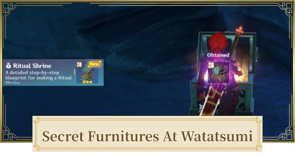 Secret Furnitures At Watatsumi Island | Hidden Furnitures Location | Genshin Impact - GameWith