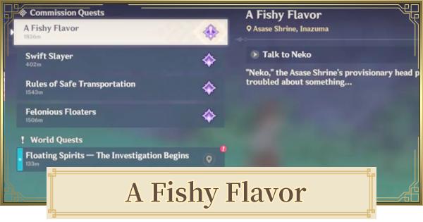 A Fishy Flavor (Neko Is A Cat) World Quest Walkthrough Guide | Genshin Impact - GameWith