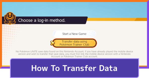 Data & Account Transfer Guide - Mobile & Switch | Pokemon UNITE - GameWith