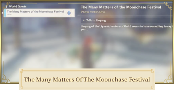 The Many Matters Of The Moonchase Festival World Quest Walkthrough Guide   Genshin Impact - GameWith