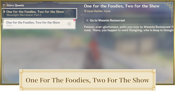 One for the Foodies, Two for the Show World Quest   Genshin Impact - GameWith