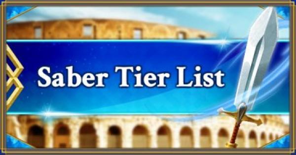 FGO   Saber Servants Tier List   Fate/Grand Order