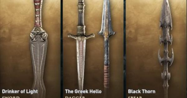 The Greek Hello - How to Get & Weapon Stats | Assassin's Creed Odyssey - GameWith