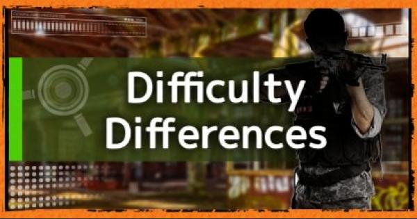 Division2 | Difference Between Difficulty Levels - Rewards & Enemies - GameWith