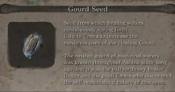 SEKIRO | Gourd Seeds Locations - GameWith