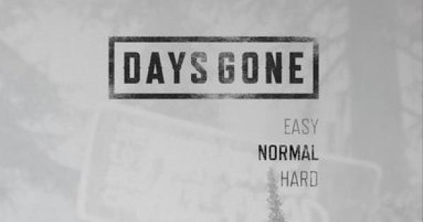 Days Gone | All Difficulty Levels - List & Differences