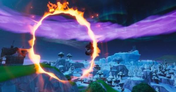 Fortnite | Launch Through Flaming Hoops with a Cannon (Week 10) - GameWith