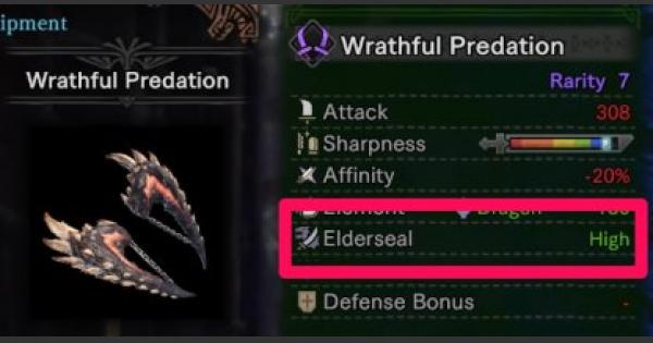 MHW: ICEBORNE | What Is Elderseal - Elderseal Weapon List & Effects - GameWith