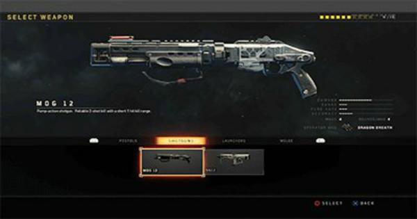 CoD: BO4 | Shotgun - Weapon List & Stats | Call of Duty: Black Ops 4
