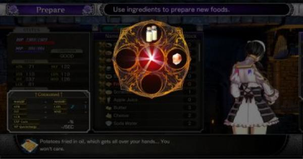 【Bloodstained】How To Cook Guide - Effects, Recipes, & Cooking Ingredients Locations【Ritual of the Night】 - GameWith